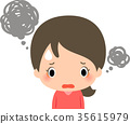 anxiety, troubles, female 35615979