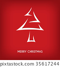 red abstract merry christmas tree arrow 35617244
