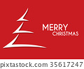 red abstract merry christmas tree arrow 35617247