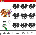 educational shadow game with kids and toys 35618212