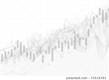 Business candle stick graph chart of stock market 35618382