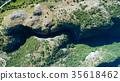 Aerial view of the narrow canyon Nevidio 35618462
