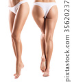 Collage of perfect female legs from different view 35620237