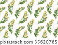 Vintage wild flowers. Seamless pattern with oil 35620765