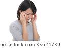 一個疲憊的眼睛的女人 35624739
