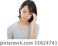 一個疲憊的眼睛的女人 35624741