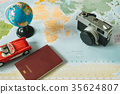 accessory of planing to travel in travel concept. 35624807