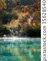 Autumn Onsen Lake Aomori Japan 35628540