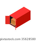 cargo container distribution 35628580