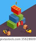 freight cargo vector 35628609