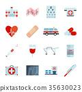 medical icon vector 35630023