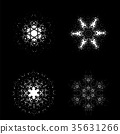 Set of Snowflakes 35631266