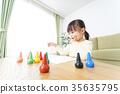 그림 그리기를하는 어린이 35635795