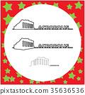 Parthenon on the Acropolis in Athens 35636536