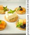 치즈, 크래커, 비스킷 35636936