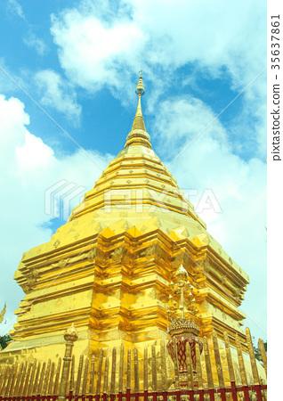 泰國清邁的寺廟 35637861