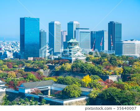 가을의 오사카와 초고층 빌딩 35640007