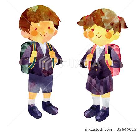 穿制服的小學生 35640015