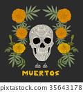 """""""Dia de los Muertos"""" (day of the dead) card . 35643178"""