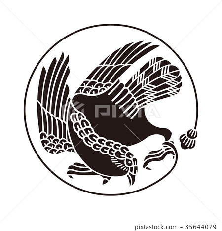 Family crest falcon wings 35644079