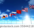 International country flags, 3D rendering 35644218