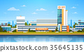 City Landscape With Hospital Building Exterior 35645135