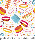 Vector seamless pattern with accessories 35645848