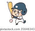 棒球 插图 男人 35646343