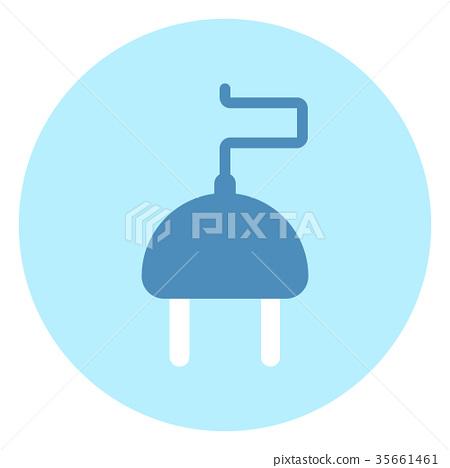 Plug Or Socket Icon On Blue Background 35661461