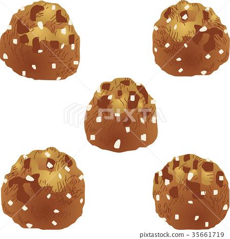 矢量 奶油鬆餅麵團 週 35661719