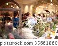 파티 (결혼식 이차 입식 신부 웨딩 꽃꽂이 얼굴없는 인물) 35661860
