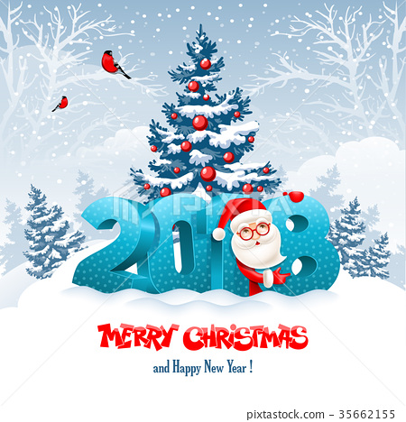 Merry Christmas and Happy New Year 35662155
