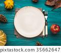autumn, plate, empty 35662647