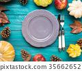autumn, plate, empty 35662652