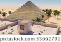 Arab town in Middle East, 3d rendering 35662791
