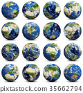 Earth icons set 3d rendering 35662794