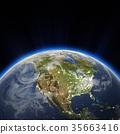 USA city lights at night 3d rendering 35663416