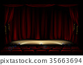 stage, theater, curtain 35663694