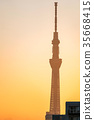 Tokyo Skytree sunrise Ueno 35668415