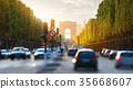 Traffic on Champs Elysee 35668607