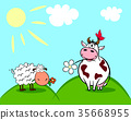 cow and sheep 35668955