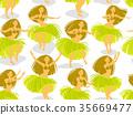 Seamless pattern with beautiful Hawaiian girl 35669477