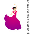 flamenco, women, spanish 35669659