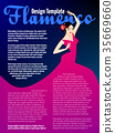 Design template with woman dancing flamenco 35669660