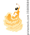 Illustration of a woman dancing flamenco 35669684