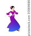 flamenco, women, spanish 35669686