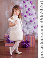 Young brunette dolly lady girl stylish dressed  35670261