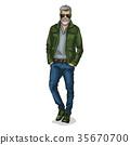 human male vector 35670700