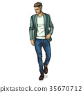 Vector man model 35670712