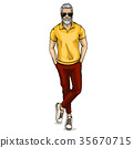 human male vector 35670715